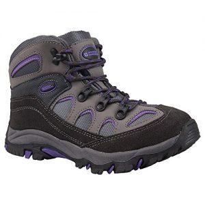 Mountain Warehouse Oscar Kinder Jungen Mädchen Velour Wanderstiefel Schuhe Stiefel Wanderschuhe