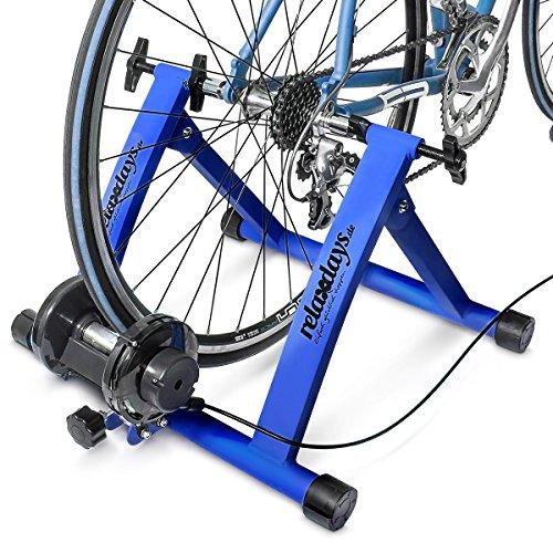 Relaxdays Fahrrad Rollentrainer inkl. Schaltung mit 6 Gänge für 26-28