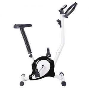 ReaseJoy Indoor Aerobic Training Cycle Exercise Bike Black Cardio Equipment Fintess Machine Workout Gym