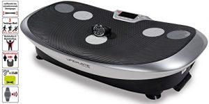 Maxxus Erwachsene Lifeplate 3.1 Vibrationsplatte, Silber-Schwarz, 785 x 420 x 170mm