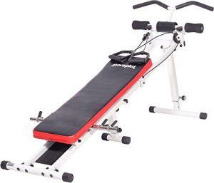 SportPlus Power Gym, Seilzugtrainingsgerät, zusammenklappbar, Benutzergewicht bis 120 kg, SP-TG-001
