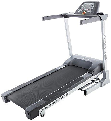 Kettler Laufband Sprinter 5 - effektiver Cardiotrainer - Farbe: silber, schwarz - professionelles Fitnessgerät - Artikelnummer: 07880-200