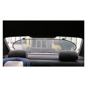 2-TECH Sonnenschutz für Auto Heckscheibe 100x50cm auch optimal für Nachtfahrten