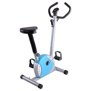ReaseJoy Indoor Aerobic Training Cycle Exercise Bike Blue Fintess Machine Cardio Equipment Workout Gym
