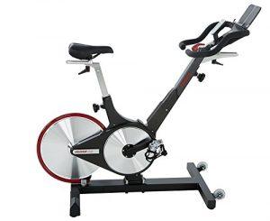 Keiser Erwachsene M3i Indoor Cycle Nummer 1 Heimtrainer für Ausdauertraining mit Verschleißfreier Magnetischer Widerstand, Matt Black,Red, One Size