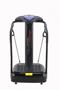 VIBRATIONS PLATTE Vibrationstrainer Crazy Vibrations Massage – 3900W Vibrations Platte Gewichtsverlust Maschine 180 Schrittweise Geschwindigkeits Einstellungen