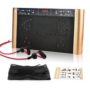 Ranbow Bluetooth 99 Intensitätsstufen Vibrationsplatte mit großer rutschsicheren Trainingsfläche, 5 Programme Angenehm leise Vibrationstrainer, perfekt für den Heimgebrauch