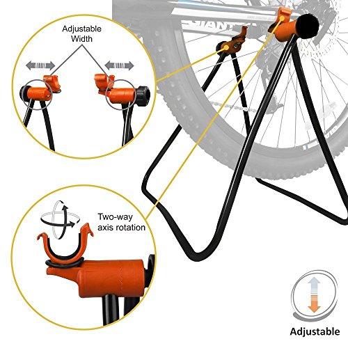 Sonnenflecken Fahrrad Ständer, verstellbare Höhe, Faltbare Automechaniker Reparatur Rack Bike Ständer für Fahrrad Aufbewahrung