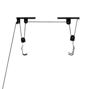 Pellor Indoor Gear Up Bike-Lift Produkte Anti-Sturz-Fahrrad-Top Suspending Parkplatz Rackhalterung Aufzug für Garage mit Max Belastungsgewicht 20 kg