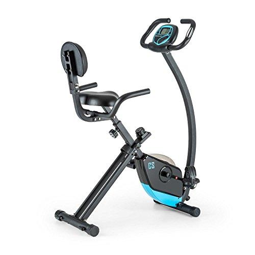 CAPITAL SPORTS Trajector X-Bike • Ergometer • Heimtrainer • Fitness-Bike • Cardio-Bike • Trainingscomputer • integrierter Handpulsmesser • 8-stufig verstellbarer Widerstand • ergonomische Bauform • max. 100kg Körpergewicht • silber oder schwarz