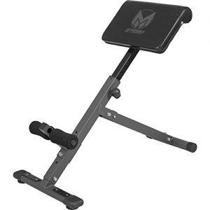 GYRONETICS E-Series Rückentrainer klappbar Hyperextension – Bauchtrainer mit gepolsterter Beinfixierung