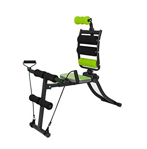 VITALmaxx 00162 Swingmaxx Fitnesstrainer 6 in 1   Trainiert Bauchmuskeln, Rücken, Bizeps, Trizeps & Schultern   Platzsparend Verstaubar   Schwarz-Grün