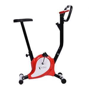 Tomasa Fitness Sport Fahrrad 39x95cm Haus Büro Fitnessbike faltbare Heimtrainer Hometrainer Multifunktion Trainingsgerät Sportgerät mit Pulsmesser, LED-Display, Geschwindigkeitsmesser bis110kg