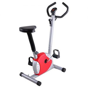 ReaseJoy Indoor Aerobic Training Cycle Exercise Bike Red Fintess Machine Cardio Equipment Workout Gym