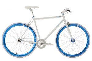 KS Cycling Uni Fitnessbike Pegado RH 59 cm Fahrrad, Weiß-Blau, 28