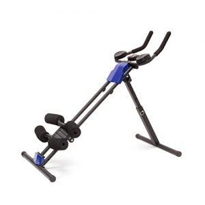 Relaxdays Bauchtrainer klappbar, Trainingscomputer, Muskelaufbau Abdominal Heimtrainer für Zuhause, HBT 82 x 54 x 102 cm, schwarz