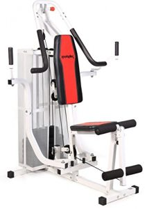 SportPlus Kraftstation/Homegym mit Brustpresse, Butterfly, Lat-Zug, Beincurl, geeignet für niedrige Deckenhöhen, geprüft nach EN ISO 20957, SP-HG-012