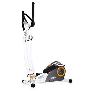 Klarfit ELLIFIT ADVANCED Hometrainer eleganter Crosstrainer inkl. Trainingscomputer & Pulsmesser (10-stufiger Widerstand, Anzeige Kalorienverbrauch) weiß