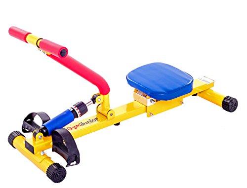 """NEU """"Happy Rower"""" - kombiniert Spaß und Fitness. Buntes, auffälliges Design. Ihre Kinder können mit Freunden Spaß haben oder mit Mama und Papa trainieren. Aktive Freizeitgestaltung für eine gesunde Zukunft. Sicher, sanft und leise: gleitende Übungen für Arme, Beine, Bauch, Rücken und das Herz-Kreislauf-System, um Gelenke und Knochen zu stärken. Fördert Gelenkigkeit und Koordination. Eine tolle Methode, um kleinen Mädchen und Jungen einen fitten Lebensstil näherzubringen."""