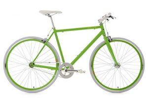 KS Cycling Fitnessbike Flip Flop RH 56 cm Fahrrad, Grün-Weiß, 28
