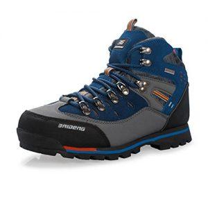 Showlovein Wasserdichte Leder Outdoor Wanderschuhe Herbst Winter Herren Sport Trekking Bergsteigen Stiefel