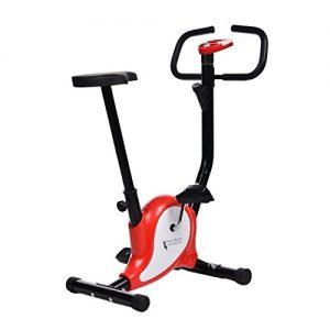 begorey Fitness Fahrrad 39x95cm Fitnessbike Heimtrainer Trainingsgerät Haus Büro mit Pulsmesser LED-Display bis110kg