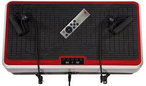 Christopeit Uni Vibro 2 Vibrationstrainer, Silber/Schwarz/Rot, 65 x 40 x 13 cm