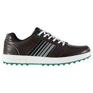 Slazenger Casual Herren Golfschuhe Ohne Soft Spikes Schuhe Streifen Detail
