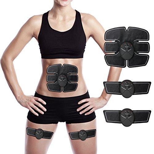 Elektrostimulation,Charminer Elektrischer Muskelstimulation EMS-Training Muskelaufbau und Fettverbrennungn Massage-gerät Home Fitness Machine leicht zu tragen für Mann Damen Geschenk
