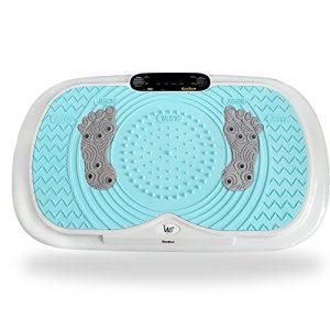 RanBow Crazy Fit Vibration Plate – Ganzkörper Body Vibration Platform Massage Maschine – Vibration Maschine – Fitness Exercise Equipment und Gewicht verlieren (Rosa)