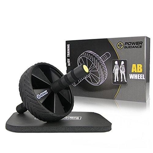 Bauchroller AB Wheel Bauchtrainer Hochwertiger AB Roller mit Knieauflage Bauchmuskeltrainer für Einsteiger und Fortgeschrittene