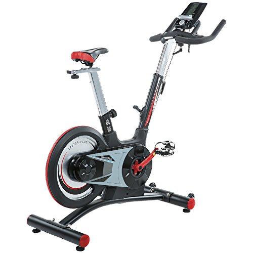skandika SF-1860 Speed Bike Pro Fortuna, Indoor Cycle Bike mit Bluetooth, 24kg Schwungrad, 150kg Benutzergewicht, Transportrollen und Pulssensoren