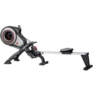 AsVIVA RA14 Rudergerät Magnetic Rower Cardio mit 10kg Schwungmasse, Magnetbremse mit 8 manuelle Widerstandsstufen, Multifunktionscomputer mit Pulsmessung