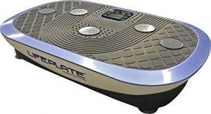 Vibrationsplatte Lifeplate 4.0 – 3D und seitenalternierende Schwingungen (auch kombinierbar!) – Vibrationstraining, Laufsimulation, Fettabbau, Figurtraining und Muskelkräftigung, Handgelenk-Fernbedienung