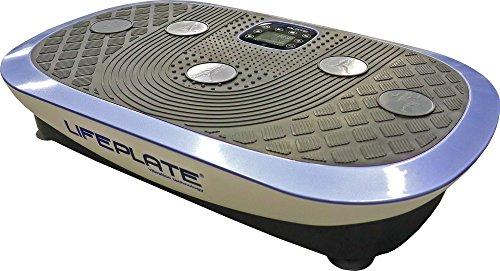 Vibrationsplatte Lifeplate 4.0 - 3D und seitenalternierende Schwingungen (auch kombinierbar!) - Vibrationstraining, Laufsimulation, Fettabbau, Figurtraining und Muskelkräftigung, Handgelenk-Fernbedienung