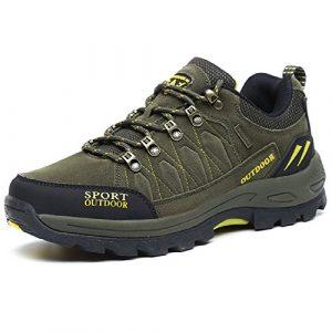 NEOKER Wanderschuhe Trekking Schuhe Herren Sports Outdoor Hiking Sneaker Armee Grün Blau Schwarz Grau 39-47