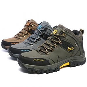 Laiwodun Herren Trekking Wanderschuhe Sports Outdoor Wasserdicht Gleitsicher Stiefel mit perfekter Dämpfung Dicker