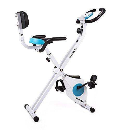 Klarfit Azura • Ergometer • Heimtrainer • Fitness-Bike • Cardio-Bike • Trainingscomputer • Pulsmesser • 8-stufig verstellbarer Widerstand • 3 kg Schwungmasse • ergonomischer Sattel • max. 100kg • weiß-blau • verschiedene Modellausführungen