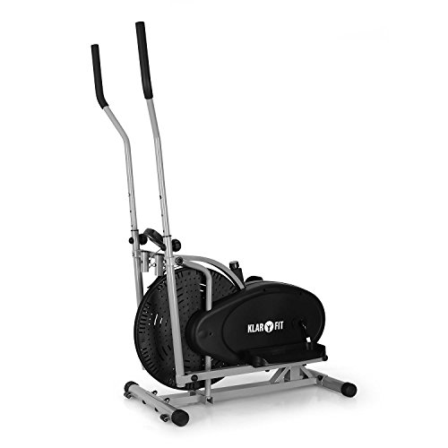 Klarfit Orbifit Basic Crosstrainer Hometrainer (inkl. Trainingscomputer, stufenlos verstellbarer Widerstand, höhenverstellbarer Lenker, Anzeige: Kalorienverbrauch)