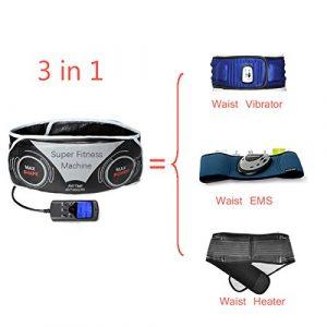 Xcellent Global 3 in 1 Multifunktions- Massagegürtel Elektronik Einstellbar Taille Bauch-Fitness-Massage-Therapie-Gurt mit 3 Modi für Unisex – EMS (elektronische Muskelstimulation) + Wärme + Vibrationsmassage M-HG083