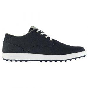 Slazenger Herren Canvas Golf Schuhe Soft Spikes Sohle Sportschuhe Schnuerschuhe