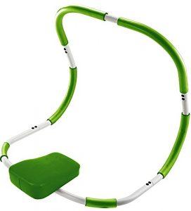 BODYCOACH Bauchmuskeltrainer, AB TRIMMER 18090 – ideales Fitnessgerät für Zuhause, Bauchtrainer und Rückentrainer, gepolsterte Kopfstütze weiss/grün