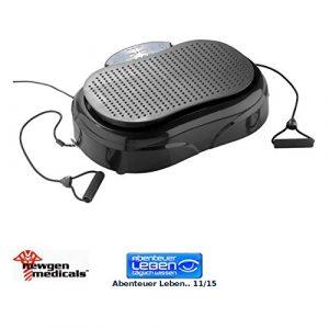 newgen medicals Rüttelplatte: 3in1-Vibrationsplatte WBV-550.VH, 300 Watt, Expander, Fernbedienung (Vibrationsgerät)