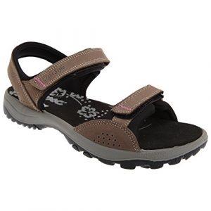 IMAC Damen Sandale / Sport-Sandale / Trekking-Sandale mit Klettverschluss, Nubukleder