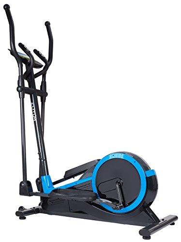 Elliptical Crosstrainer MX700 Ellipsentrainer Heimtrainer belastbar bis 150 kg Schwungmasse: 14,5 kg inkl. Computer Pulssensoren Smartphone-Halterung 32 Widerstandsstufen 12 Trainingsprogramme