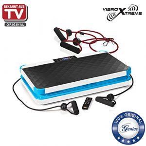 Genius Vibro Xtreme | 6 Teile | Vibrationsplatte inklusive Dehnbänder | Fitness | Training | LED-Display | integrierte Lautsprecher | NEU