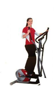 Crosstrainer inkl. Trainingscomputer und integrierter Handpulsmessung