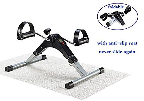 EXEFIT Pedal Exerciser Sitz Übung Bike Peddler Zyklus mit LCD-Monitor für Senioren und Wakeman Bein und Arm Übun