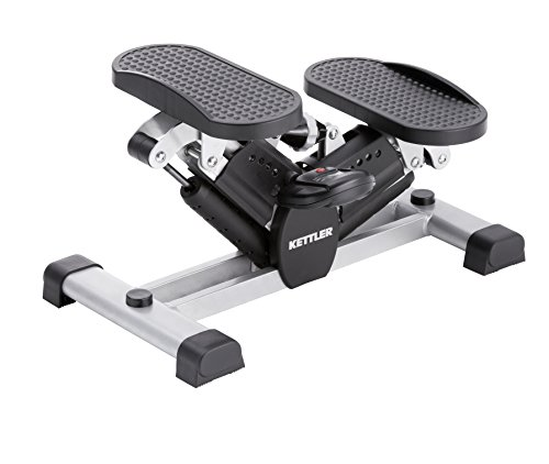 Kettler Side Stepper Move – Heimtrainer mit Trainingscomputer inkl. Trittfrequenz, Schrittzähler etc. – Fitnessgerät zum Muskelaufbau in Beinen und Gesäß – silber & schwarz