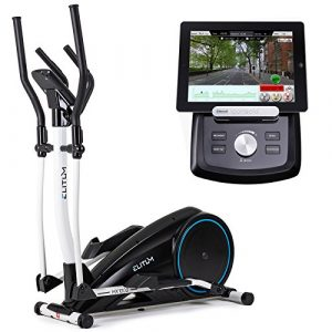 Crosstrainer MX1000 Elliptical Hometrainer Smartphone Steuerung Bluetooth 4.0 + Google Street View Ellipsentrainer 32 Widerstandsstufen 12 Trainingsprogramme